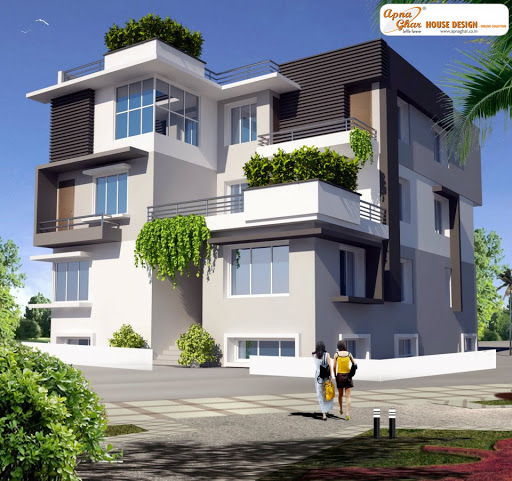 Apnaghar house design complete architectural solution for Triplex house plans