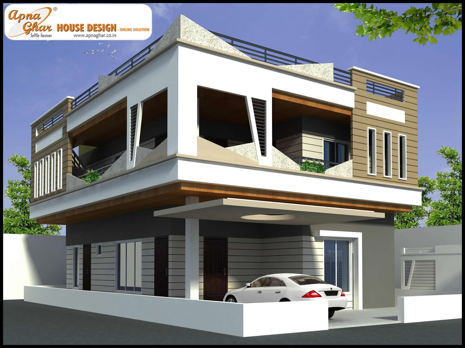 Duplex house design apnaghar house design page 3 for Duplex house models