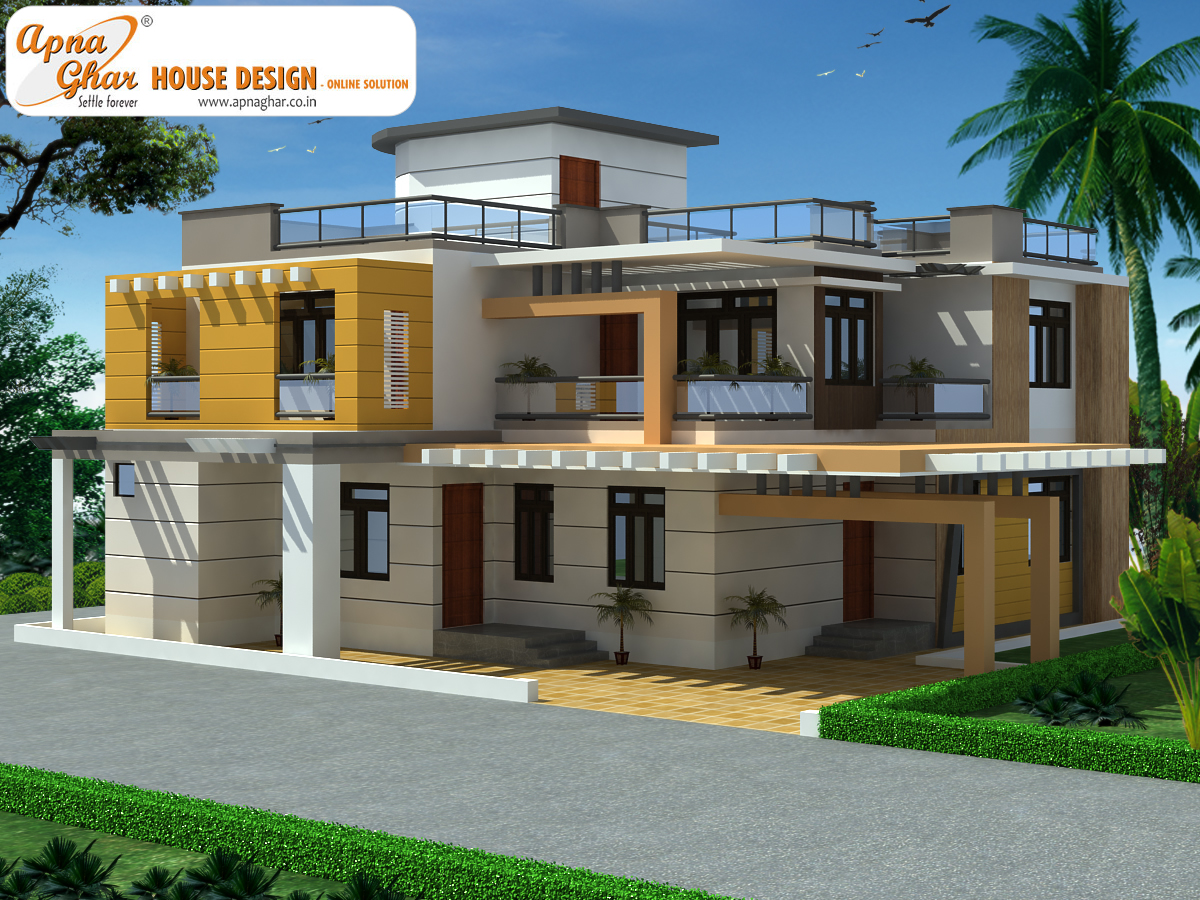 Duplex house design apnaghar house design page 2 for Duplex houseplans