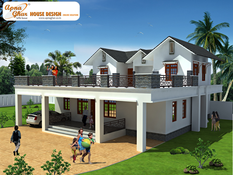 Duplex house design apnaghar house design Home plan and design