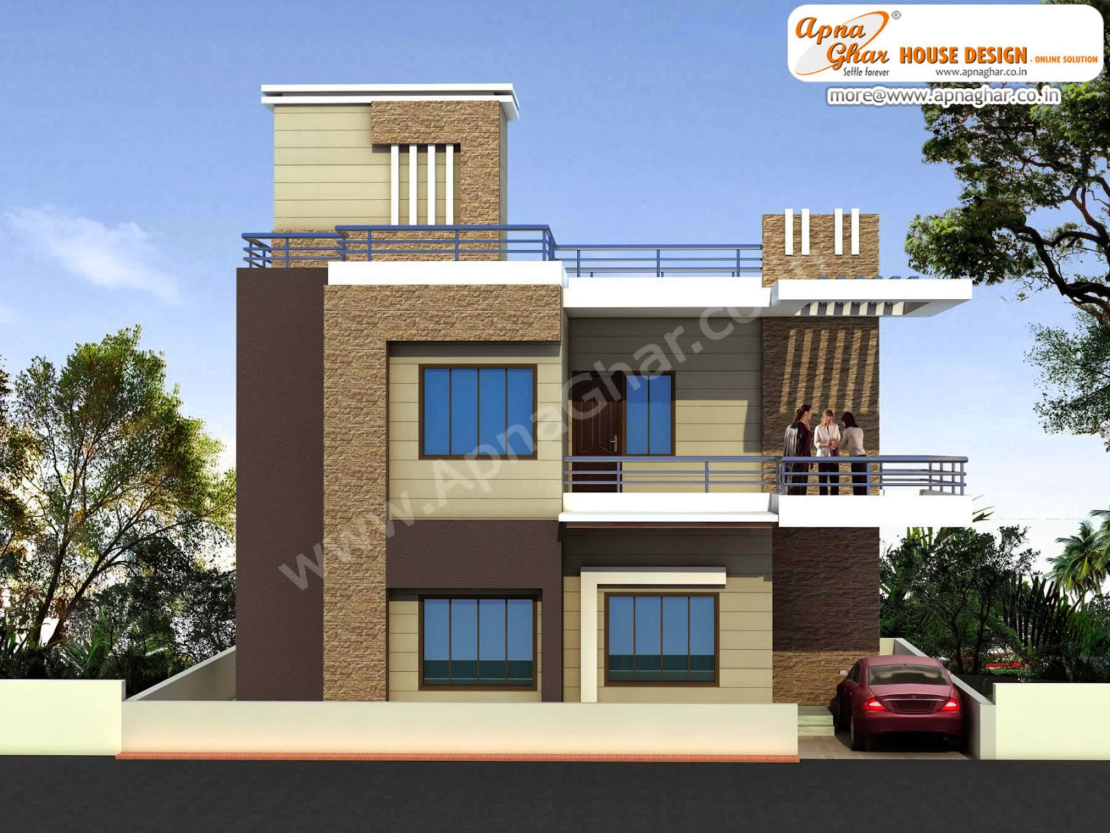 Duplex house design apnaghar house design for Duplex houseplans